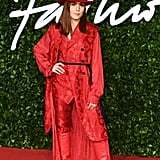 Noomi Rapace at the British Fashion Awards 2019 in London