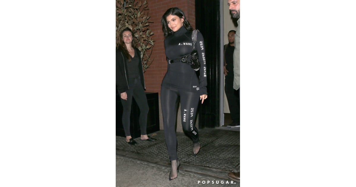 3cb877570fe36 Kylie Jenner Alexander Wang Look in NYC 2018 | POPSUGAR Fashion Photo 3