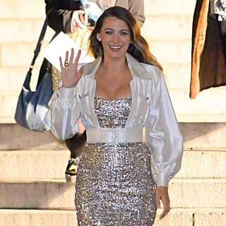Blake Lively's Sequinned Dress and Boots December 2018