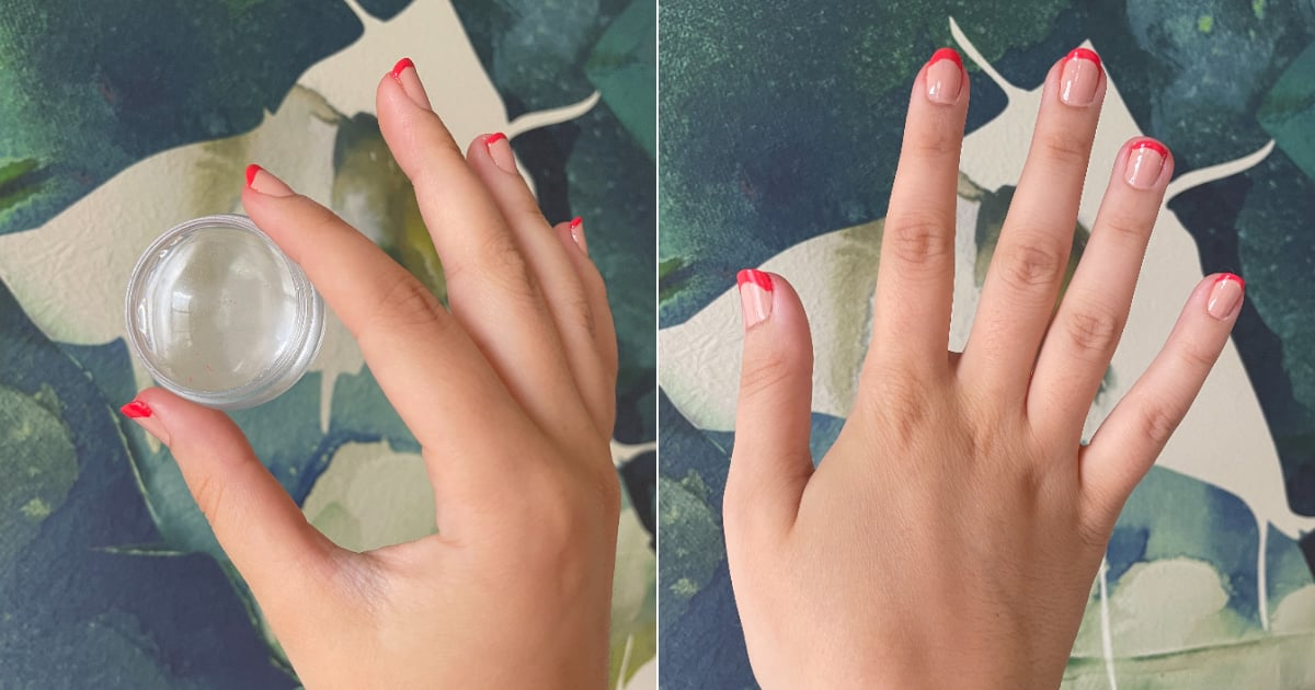I Tried the TikTok French Manicure Stamp Hack, and OMG, It Actually Is as Easy as It Looks