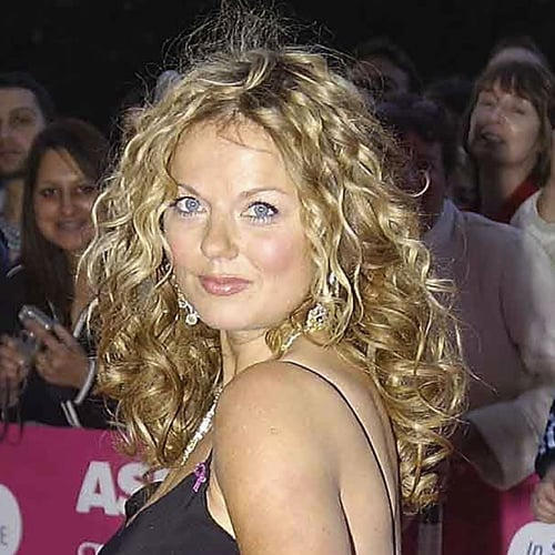 Geri opted for all-out curls at a London event in September 2004.