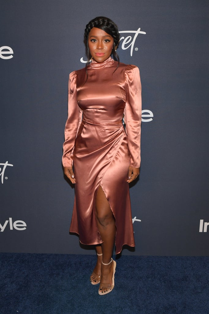 Aja Naomi King at the 2020 Golden Globes Afterparty