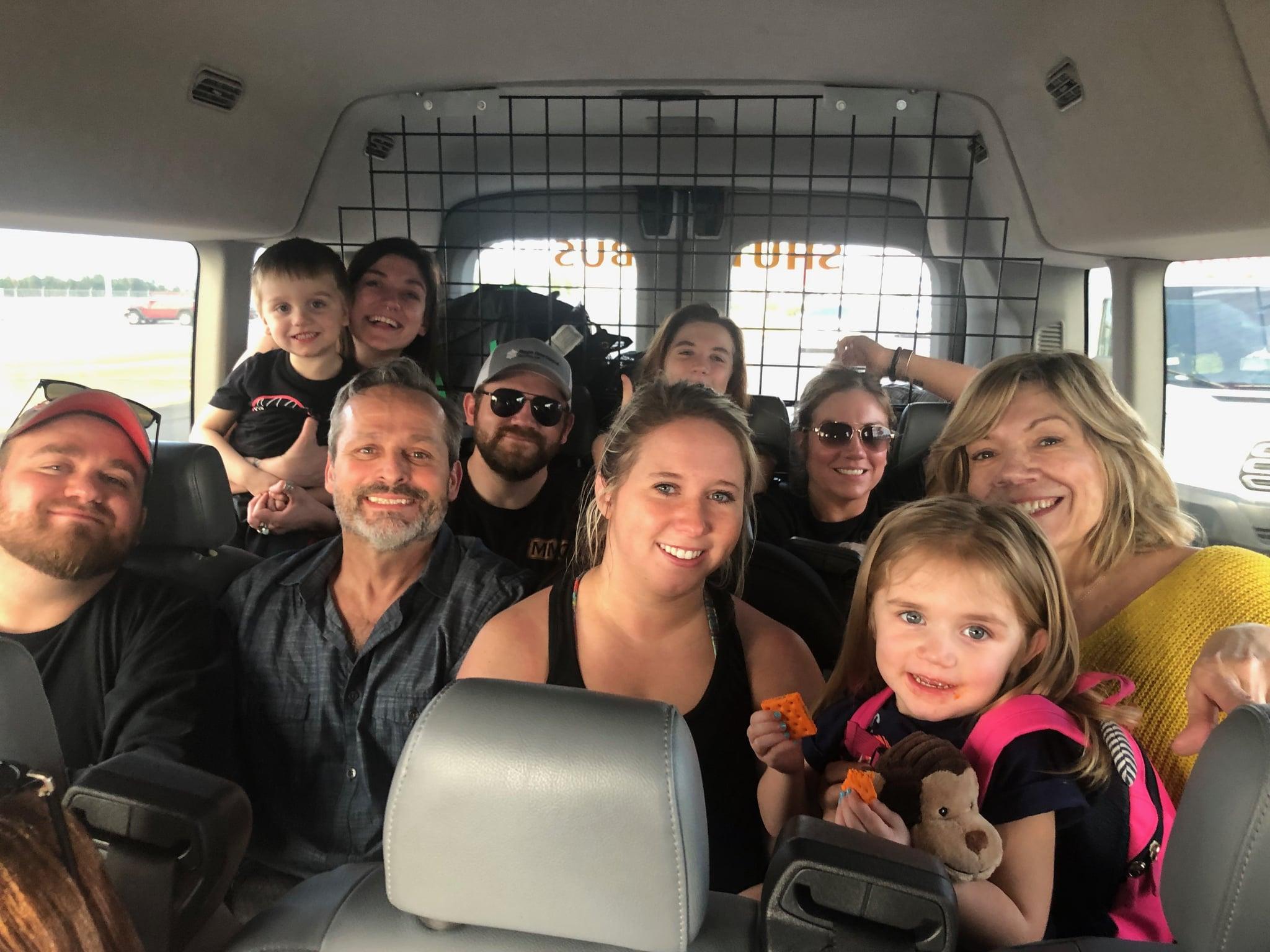 Family in Shuttle Bus