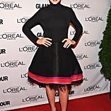Julianna Margulies accessorized her feather-adorned Chado Ralph Rucci dress with Fred Leighton jewels and understated black pumps.