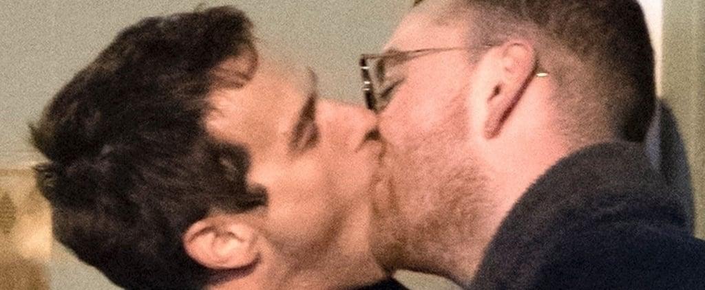 Sam Smith Kissing His Boyfriend Brandon Flynn in London