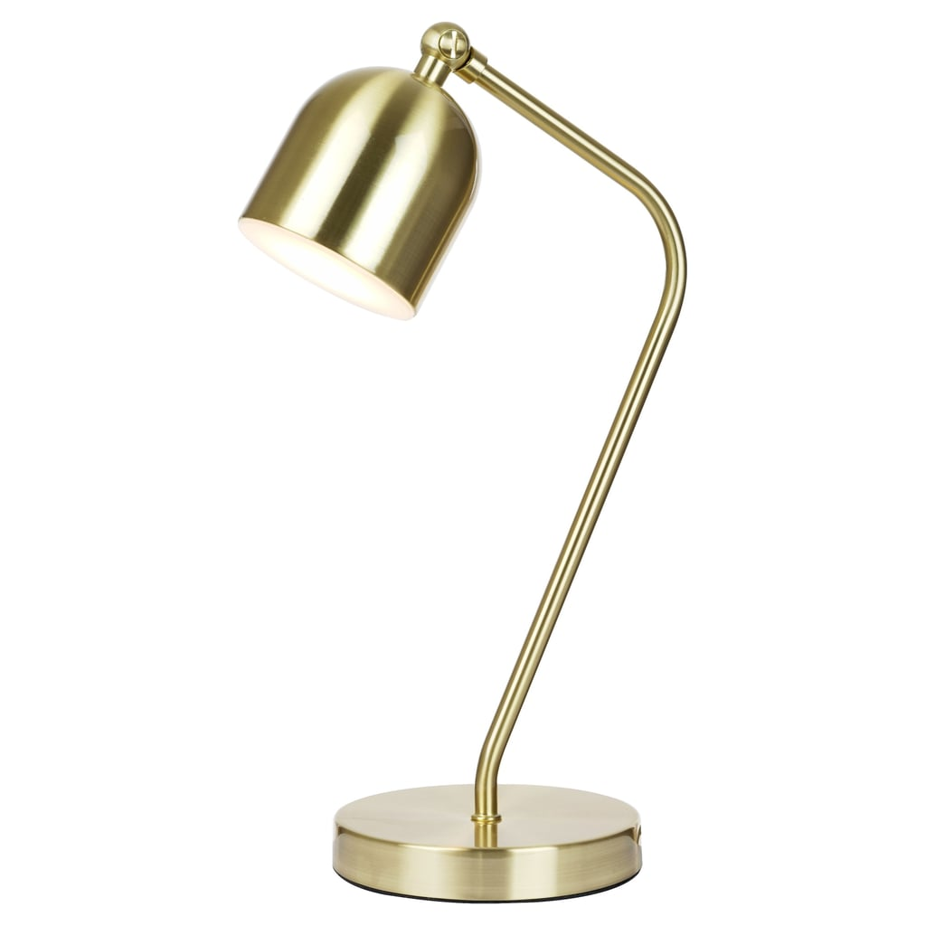 A sleek desk lamp
