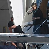 Jennifer Aniston and Justin Theroux landed in LA.