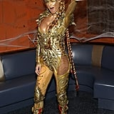 Heidi Klum went for the gold in 2003 at an NYC party.