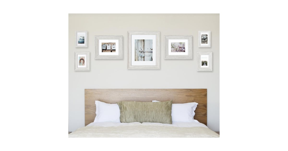 Pinnacle Gallery Perfect Distressed White Collage Picture Frame Set ...