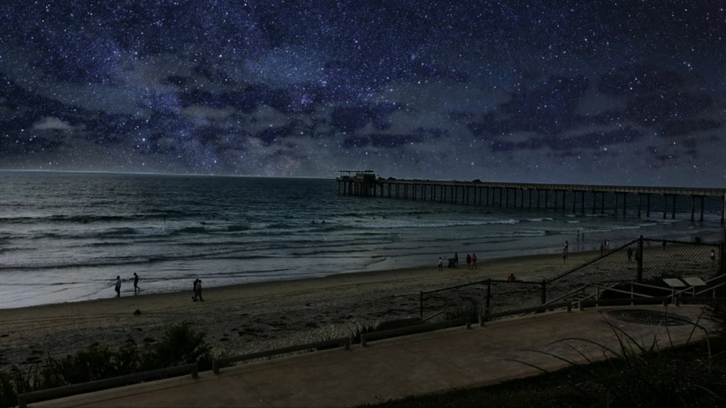 This filter paints your sky into a starry night.