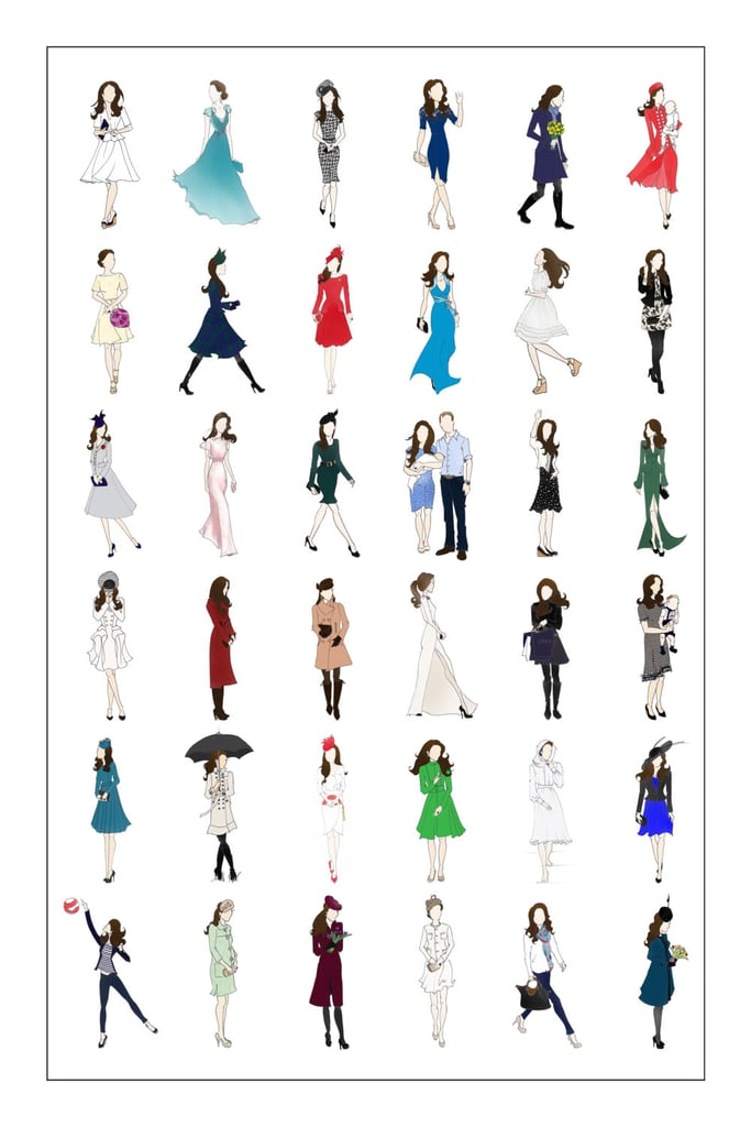 Kate Middleton, Duchess of Cambridge Fashion Poster I ($35)