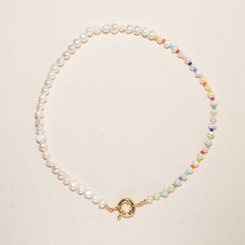 Freshwater Pearl Pastel Rainbow Necklace
