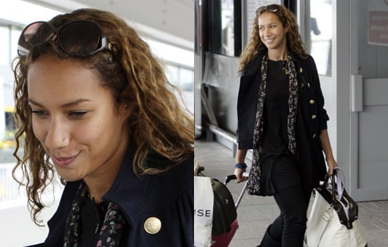 Leona Lewis With No Make-Up Arrives at Heathrow Airport