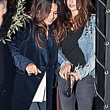 Penélope Cruz had a night out with Javier Bardem and family members in Madrid.