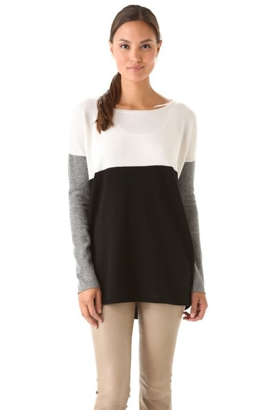 A classic-feeling sweater with a little something extra, this Vince Colorblock Sweater ($207, originally $295) is also supersoft.