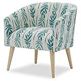 Vintage Palm Barrel Accent Chair