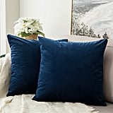 Miulee Velvet Soft Soild Decorative Square Throw Pillow Covers