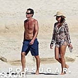 Rande Gerber and Cindy Crawford spent the last few days of 2011 sunning on the sands of Cabo.