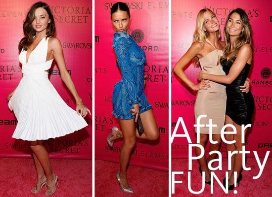 Pictures of the 2011 Victoria's Secret Fashion Show After Party! Adriana Lima, Miranda Kerr, Shanina Shaik, Alessandra Ambrosio