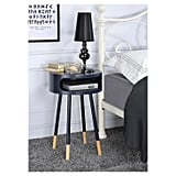 End Table in Black Natural