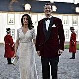 And Turned Up the Glamour With Silver Beadwork For Queen Margrethe's Birthday Dinner at Fredensborg Castle