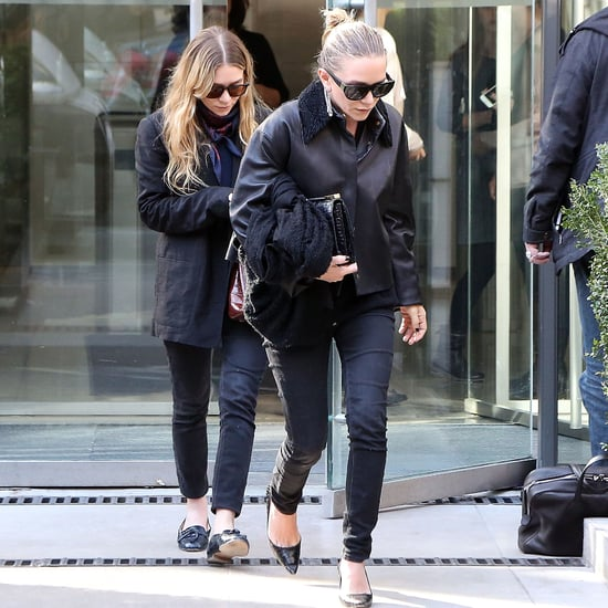 Mary-Kate and Ashley Olsen Wearing Black in Paris