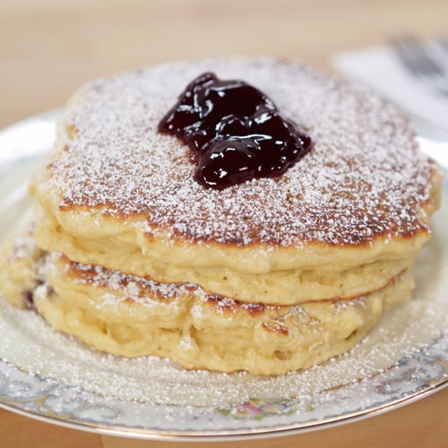 Jelly Doughnut Pancake Recipe Popsugar Food