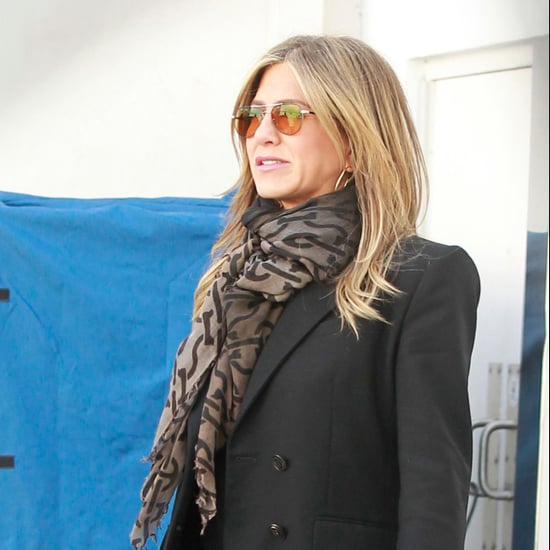 Jennifer Aniston Blazer and Sneakers