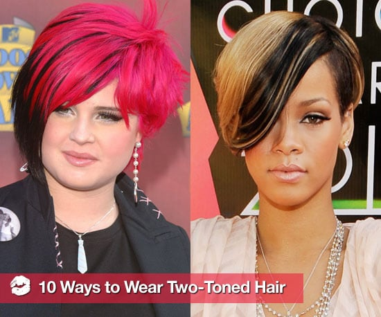 Two Tone Hair Styles Pictures: Celebrities With Two-Toned Hair