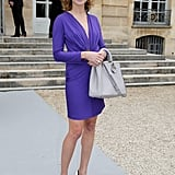 Natalia Vodianova caught our attention with a bold little dress at PFW.