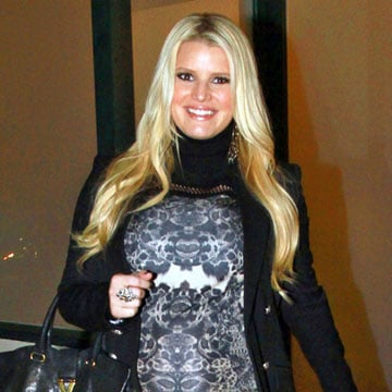 Pregnant Jessica Simpson at Mastro's With Eric Johnson