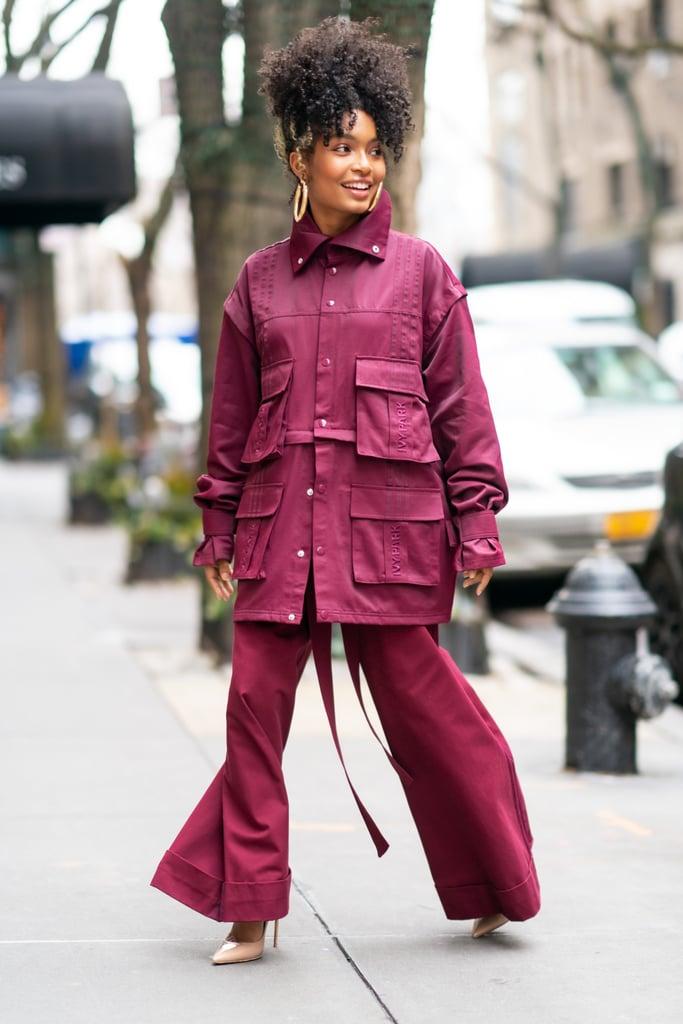 Yara Shahidi Wearing Beyoncé's Ivy Park x Adidas Tracksuit
