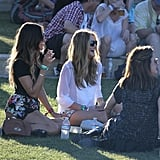 Rosie Huntington-Whiteley had a picnic with friends at the second weekend of Coachella.