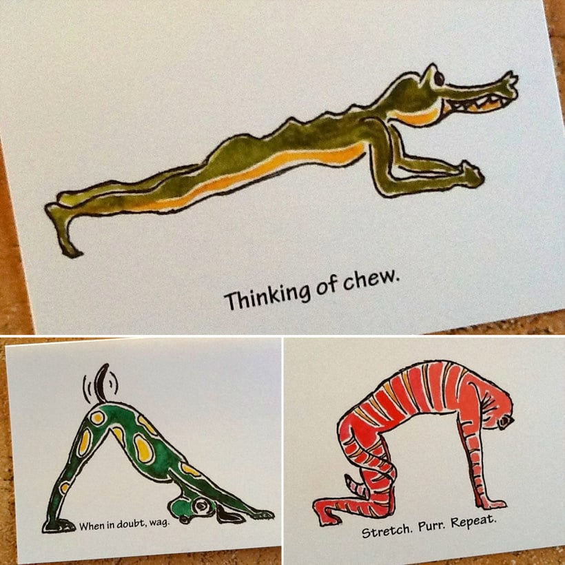 Yoga-Inspired Greeting Cards