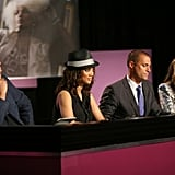 La Toya Jackson joined the judges to critique the girls' photos.  Photo courtesy of CW