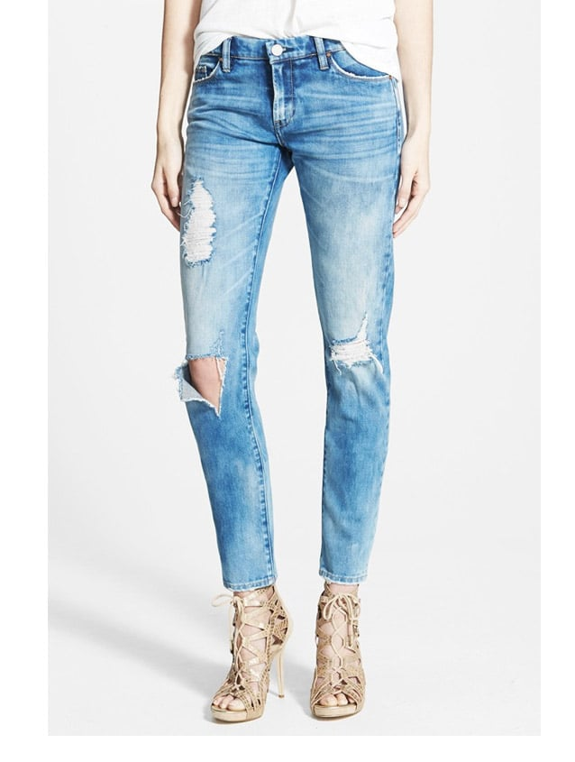 Blank NYC 'Good Vibes' Distressed Skinny Jeans ($88)