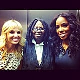 Kelly Rowland hung out with Whoopi Goldberg and Elizabeth Hasselbeck on the set of The View. Source: Instagram user kellyrowland