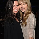 Joy Williams and Taylor Swift posed together during rehearsals for this year's Grammys.