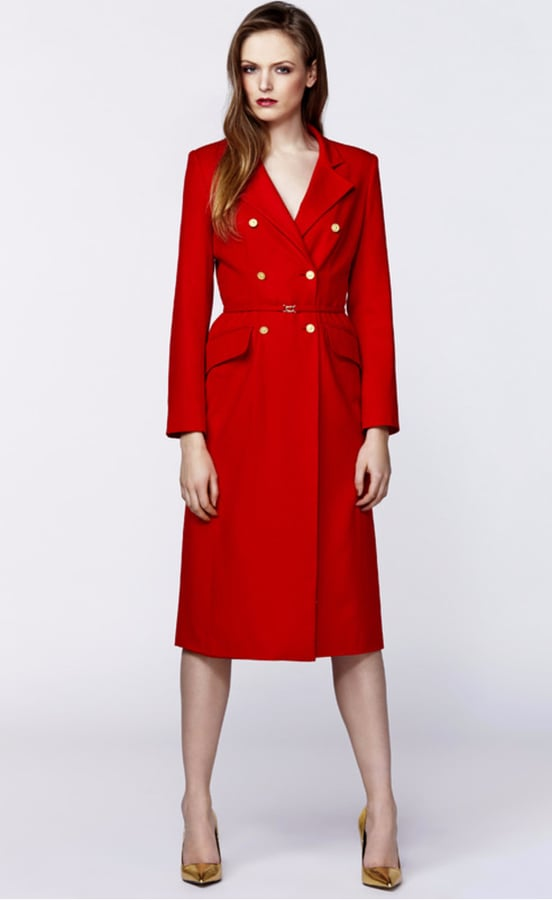 Plakinger Red Wool Double Breasted Coat (£762)