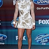 On the Red Carpet For American Idol's Finalist Party in Los Angeles in March 2015