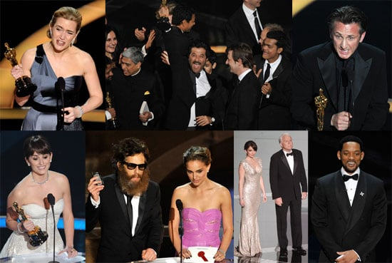 Photos of Brad Pitt, Angelina Jolie, Jennifer Aniston, Natalie Portman, Will Smith, Reese Witherspoon, at the 2009 Oscars