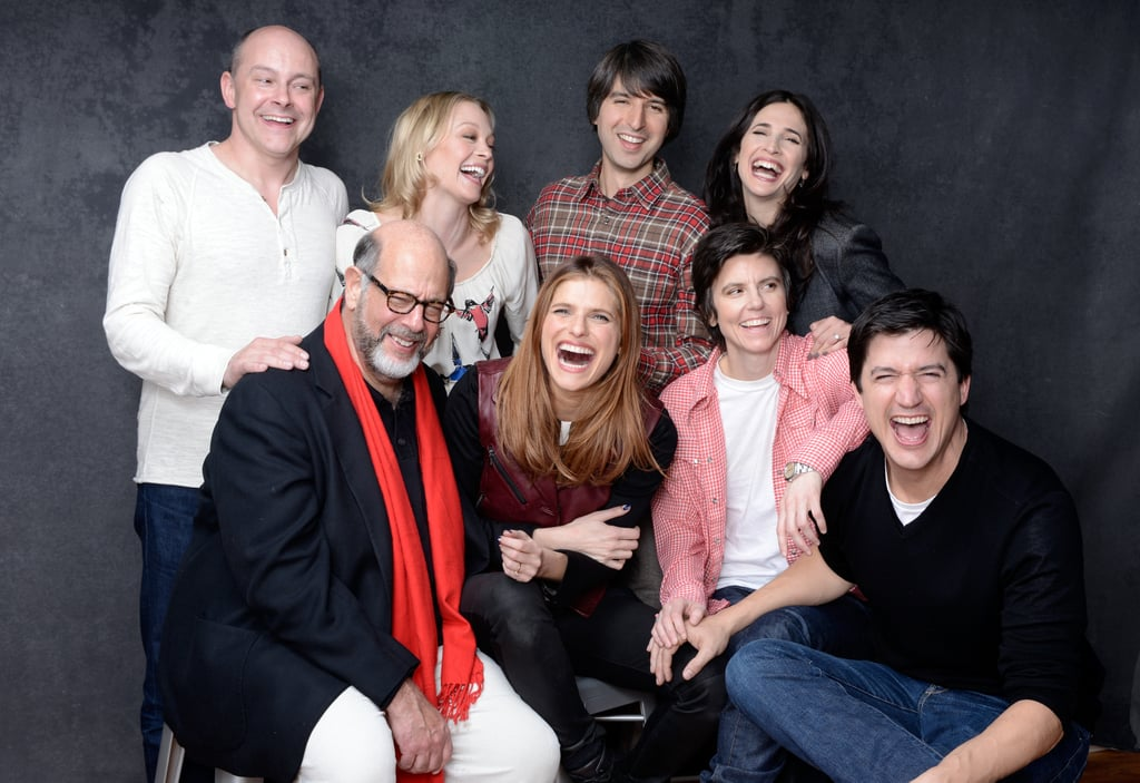 Rob Corddry, Alexandra Holden, Demetri Martin, Michaela Watkins, Fred Melamed, director Lake Bell, Tig Notaro and Ken Marino couldn't keep in the laughs while promoting In a World . . .  at Sundance.