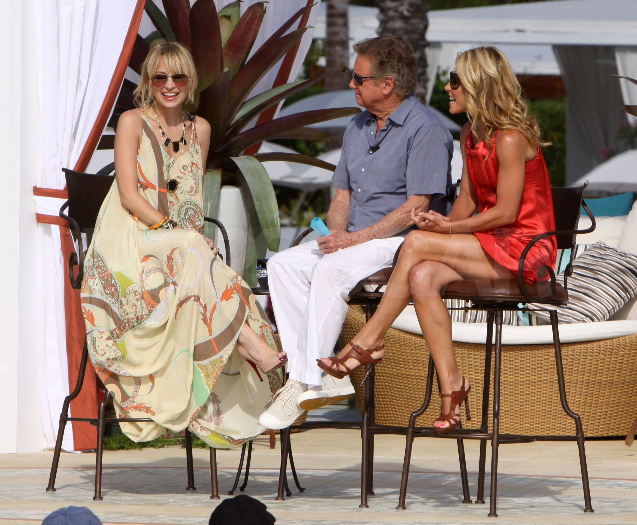 Photos of Nicole Richie on Regis and Kelly Promoting House of Harlow