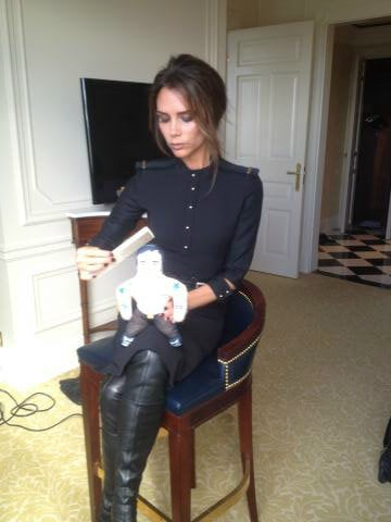 Victoria Beckham groomed her Marc Jacobs doll. Source: Twitter user victoriabeckham