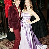 Zac Posen and Liz Goldwyn at the Vintage Vanguard benefit.