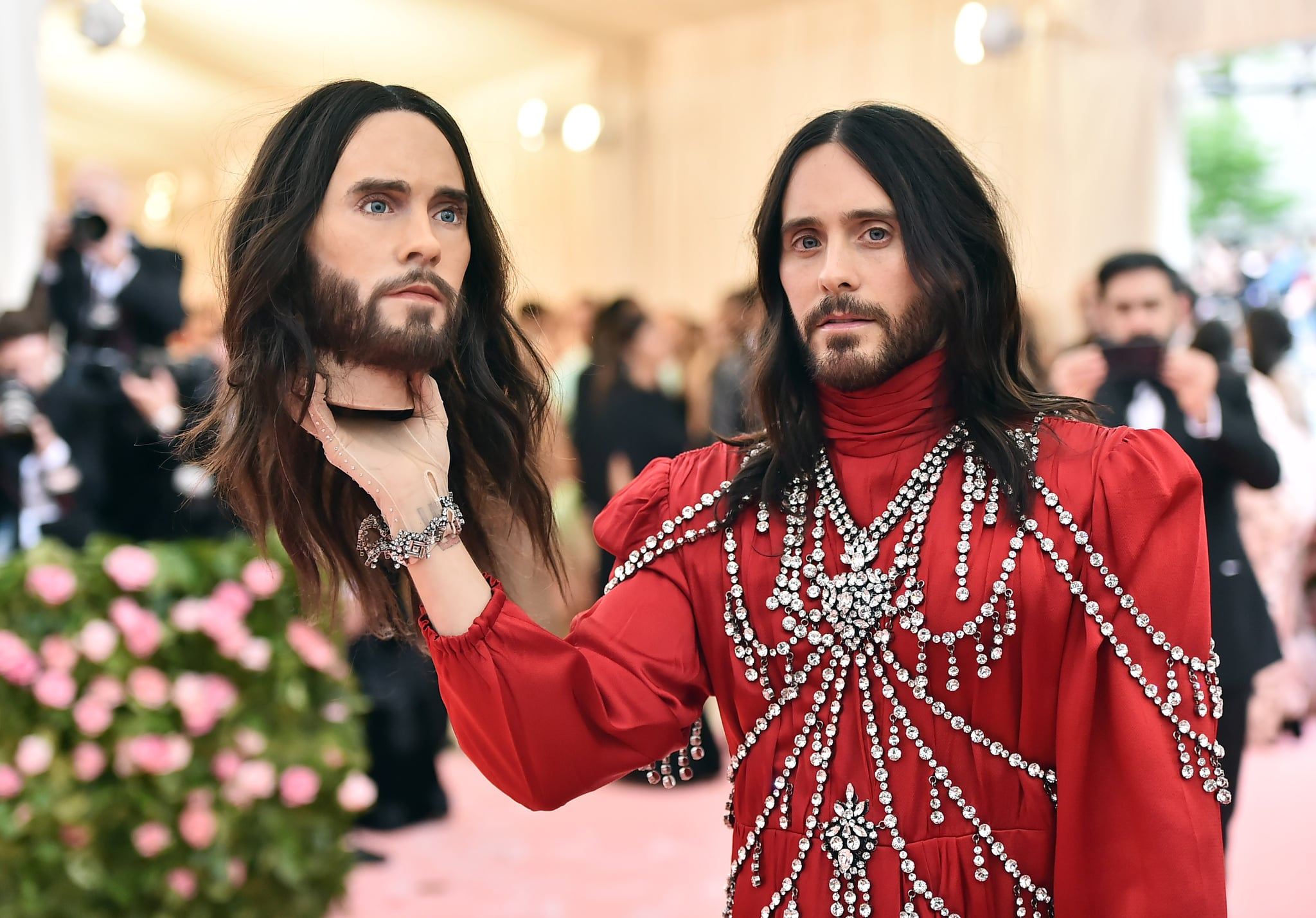 NEW YORK, NEW YORK - MAY 06: Jared Leto attends The 2019 Met Gala Celebrating Camp: Notes on Fashion at Metropolitan Museum of Art on May 06, 2019 in New York City. (Photo by Theo Wargo/WireImage)