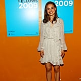 Natalie Portman wore a ruffled dress to the TFI: Film Fellows welcome dinner during the 2009 Tribeca Film Festival in April 2009.