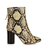 Isabel Marant Grover Faux Snakeskin Ankle Boots ($1,080)