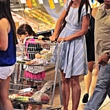 Katie Holmes and Suri Cruise picked out food at Whole Foods in NYC.