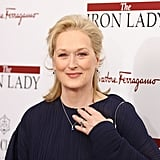 Meryl Streep went for a simple and chic look.
